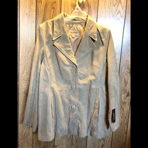 Wilsons Leather Genuine Suede 3- Button Jacket Lg